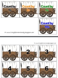 westward expansion skip counting activity for kids