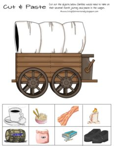 wild west cut and paste worksheet