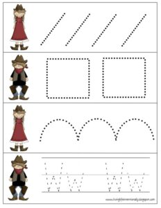 wild west tracing pages