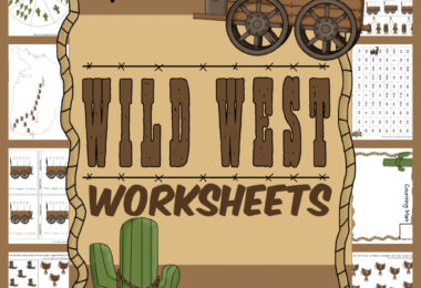 cutewild west worksheetsare a fun way to sneak in some math and literacy skills! Use thesewild west printables to teach toddler, preschool, pre-k, kindergarten, and first grade students. The cute cowboy, cactust,horse, covered wagon, boots with spur, cowboy hat, and more on the free printable kindergarten worksheets will make children eager learners! Simply download pdf file withfree preschool pages and you are ready to leran with fun themed worksheets.