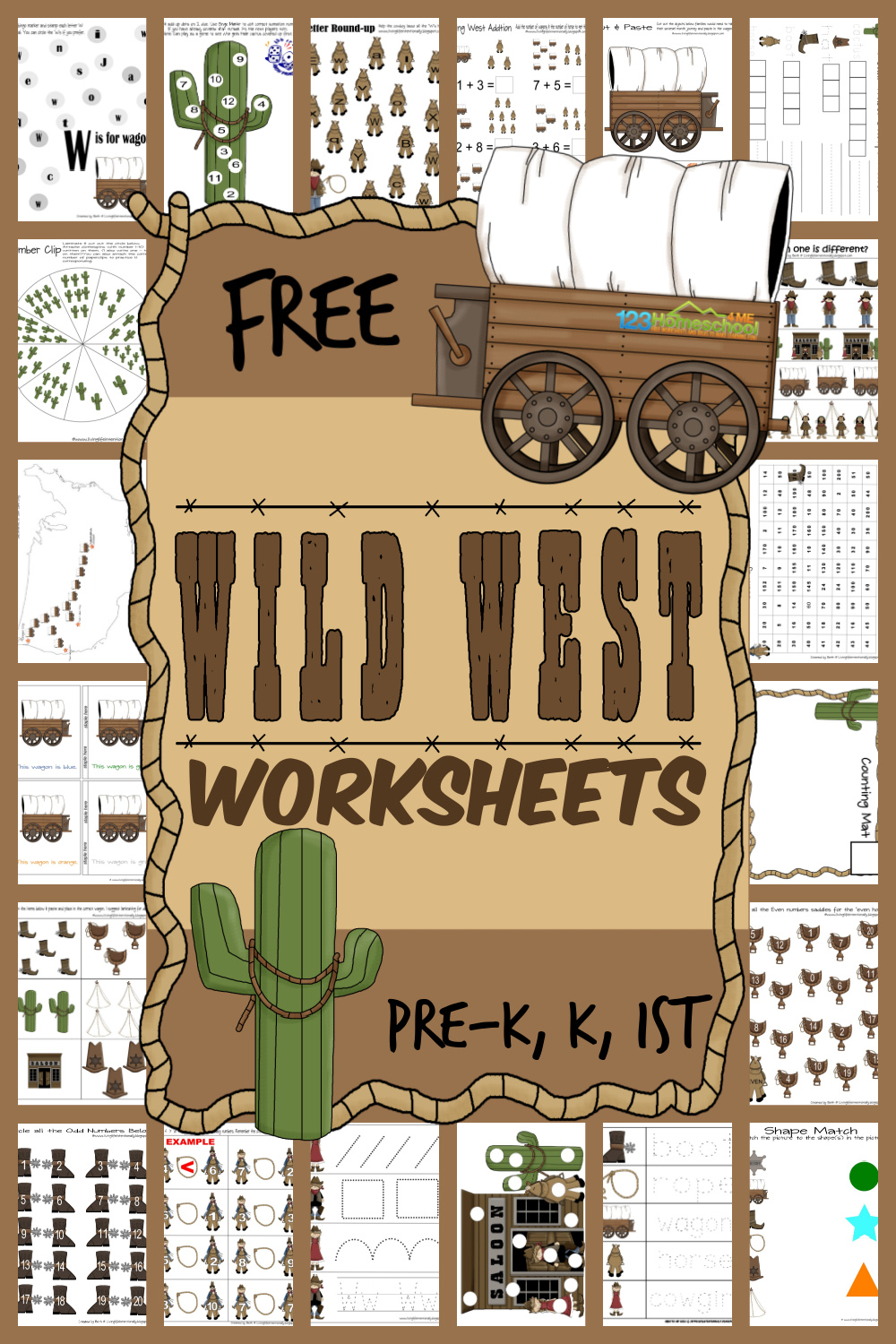 Free Wild West Worksheets For Kids [ 1500 x 1000 Pixel ]