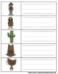 write wild west vocabulary