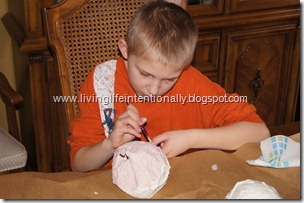 painting dinosaur eggs