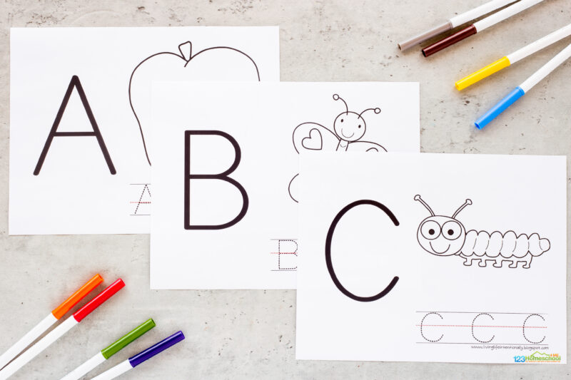 Uppercase letter tracing