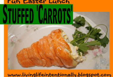 Stuffed 'Carrots' Fun Easter Lunch