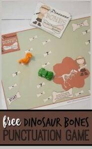 Dinosaur Bones Punctuation Game