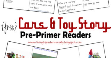 FREE Cars and Toy Story Readers