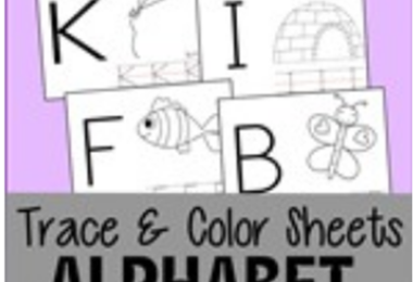 Uppercase Alphabet Color & Trace Pages