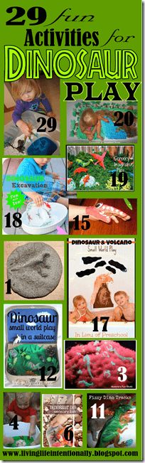lots of really clever and fun Dinosaur Activities for preschoolers, toddlers, and kindergartners