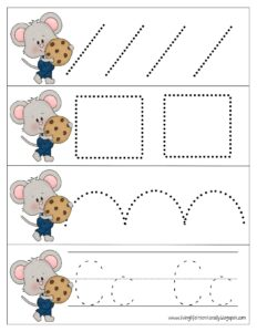 If you give a mouse acookie pre writing worksheets for toddlers and preschoolers