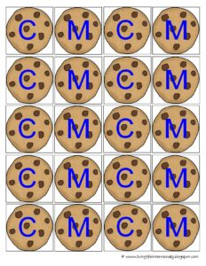 sort letter c and letter m cookies with this book based activity for students