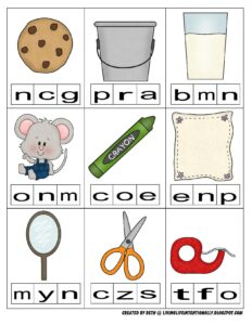 beginning sounds clip cards for if you give a mouse a cookie
