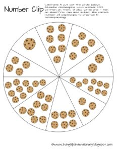 count the cookies 1-10 clip cards