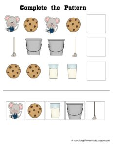 pattern cut and paste worksheet