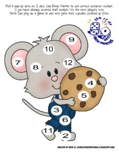roll and add mouse counting mat
