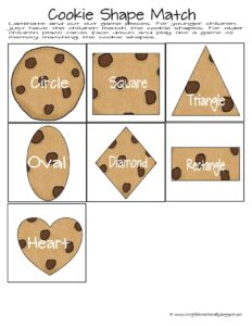 Cookie Shape recognition matching