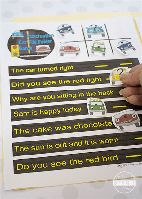 free printable Punctuation Games for First Grade to practice periods and questions marks with early learners