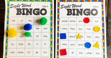 Sight word bingo printable