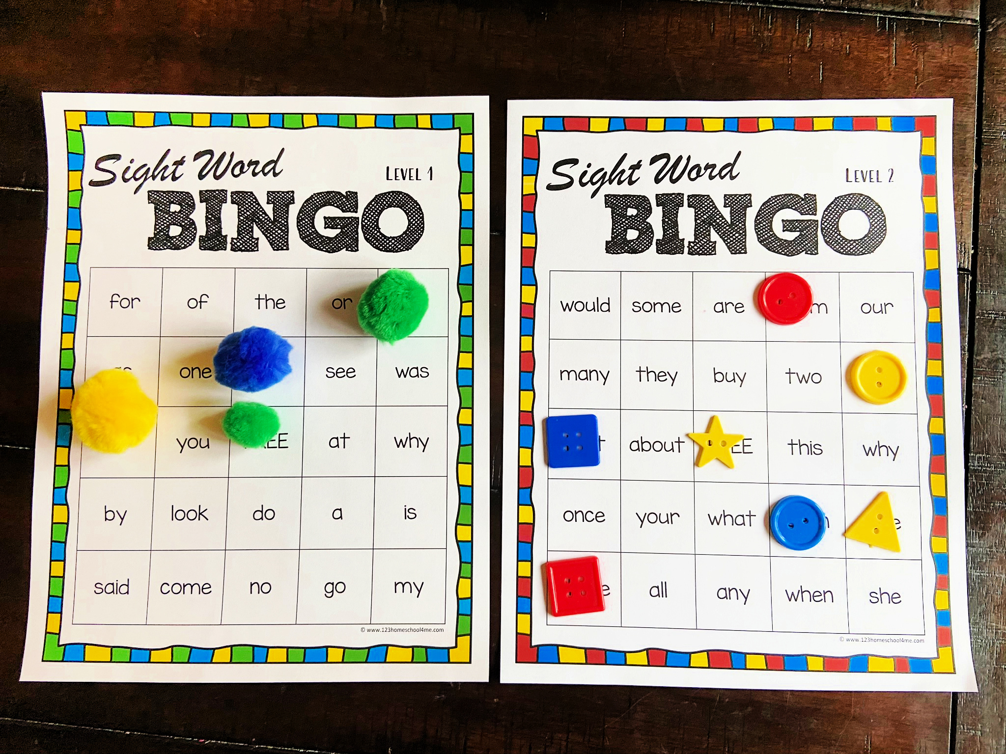 Sight Word Bingo Free Printable Inside Bingo Card Template Word