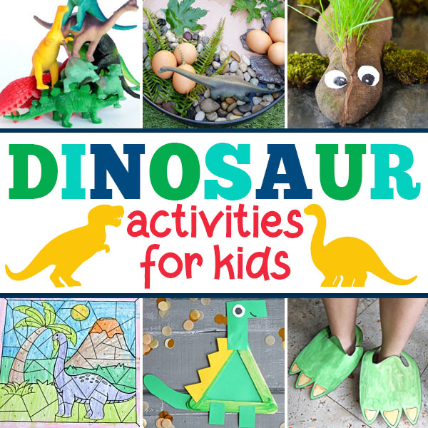 Do you have a dino fan in your house? Or perhaps you are you planning a dinosaur theme for toddler, preschool, pre-k, kindergarten, first grade, or 2nd graders? You will love these super creative, fun, and engaging dinosaur theme ideas inluding dinosaur activities for kids, happy dinosaur crafts for kids, yummy Dinosaur Themed Food, and free dinosaur printables! Which ideas will you try first!