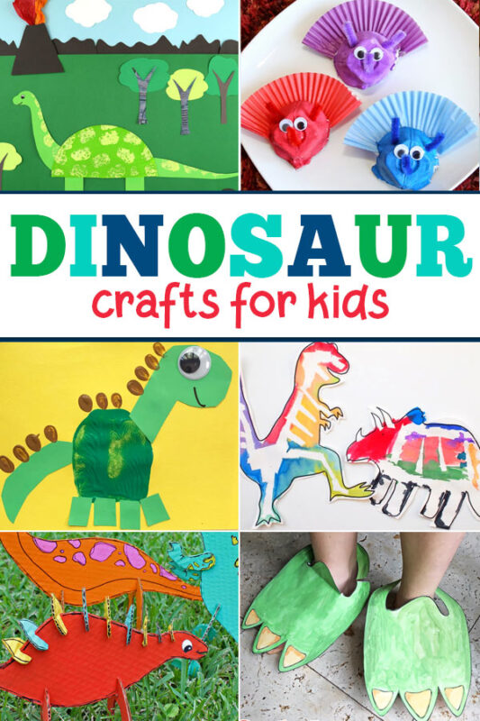 Get crafty with this great list ofdinosaur crafts for toddlers plus engaging dinosaur activities too. The kids will love making all kinds of themeddinosaur craft preschool to display around your home or classroom.