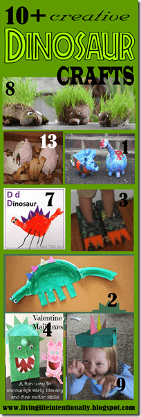 Tons of super cute dinosaur crafts for toddler, preschool, prek, kindergarten, and first grade students
