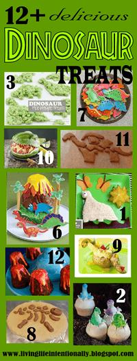 dinosaur themed food