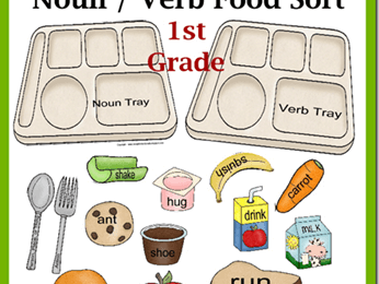 FREE Noun Verb Food Sort