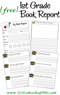 homeschool free printable book report