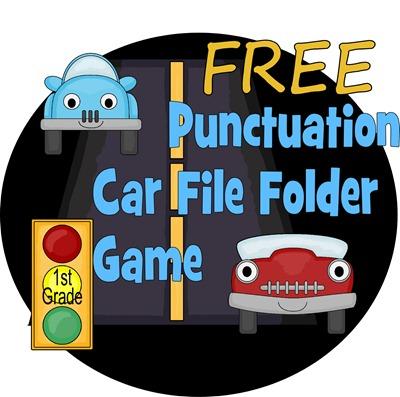 {free} punctuation file folder game