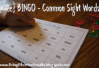 FREE Common Sight Words BINGO - this is such a fun, simple sight word game to help preschool, kindergarten and first grade kids to practice these key words to improve reading #sightwords #sightwordgame #kindergarten