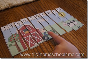 simple preschool farm puzzle