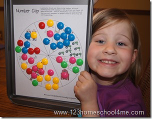 Preschool match activities: counting and 1:1 correspondence