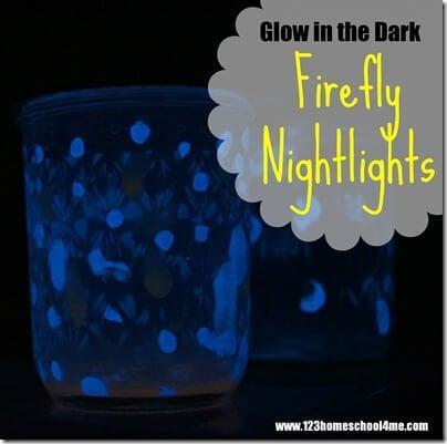 Glow in the Dark Kids Activity - Firefly Nightlight