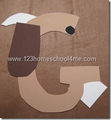 Letter G craft for toddler and preschool