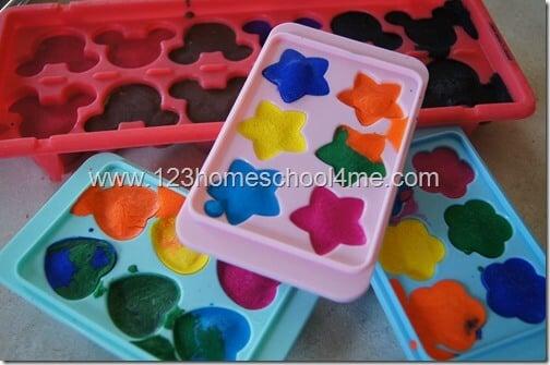 Summer Activites for Kids - Frozen Paint