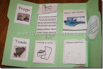 Homeschool Frog and Toad are Friends Lapbook