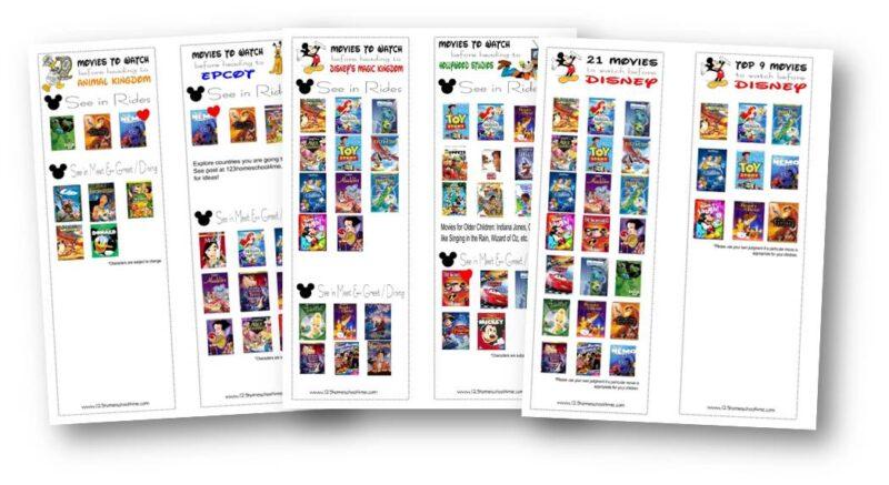 Printable List of Disney Movies