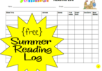 FREE Summer Reading Log