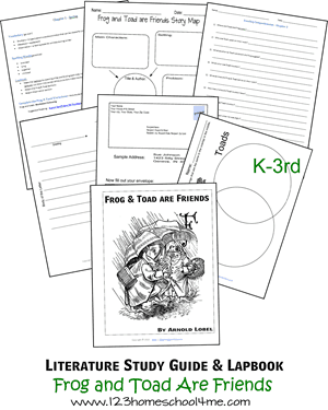 Frog and Toad Are Friends Lapbook and Worksheets | 123