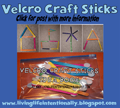 road trip games - velcro craft sticks