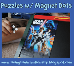 road trip games - puzzles with magnet dots