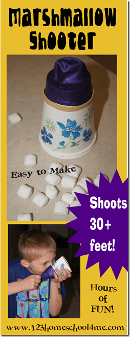 Marshmallow Shooters are super easy, fun to make kids activities for summer. You only need 2 things! #kidsactivities #marshmallows #summeractivities