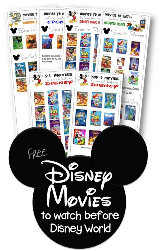 FREE Must Watch Disney Movies before Disney World - arranged by epcot, animal kingdom, magic kingdom, and hollywood studios, or top 20 before your Disney vacation Great disney world planning tips and tricks #disneyworld #disneyworldplanning #disneyvcation