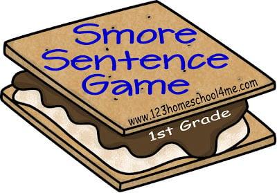FREE Printable sentence game for homeschoolers