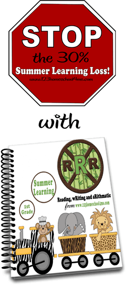 STOP the 30% of skills lost over the summer with this fun program with fun, engaging activities for Summer Learning with first grade worksheets #summerlearning #firstgrade #1stgrade