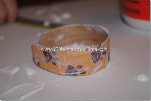 Mod Podge Decorated Craft Stick Bracelet
