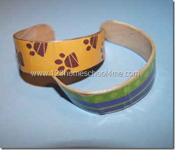 Kids craft craft stick bracelet