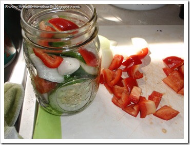 fill your sterilized canning jars