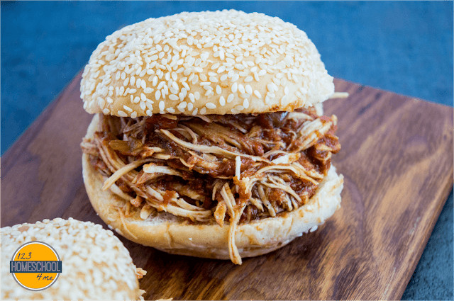 Mouth watering bbq pulled chicken perfect for company or an easy dinner recipe